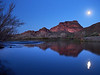 Moonset above Red Mountain