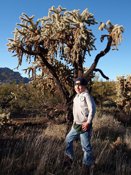 Brandon and a giant Cholla