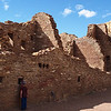 Looking into Pueblo Bonito at Chaco Canyon