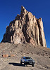 Parked at the base of Shiprock