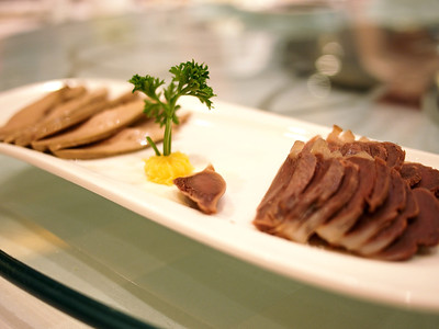 Duck liver and gizzard