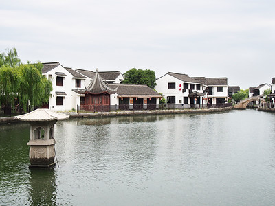 River and homes