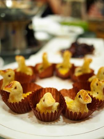 Duck-shaped cookies