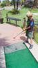 FIrst shot at mini golf