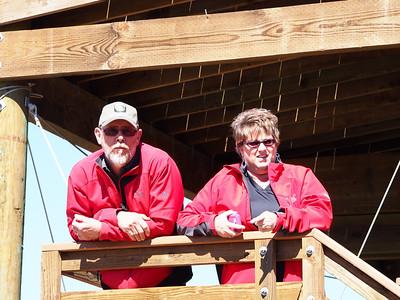 Tom & Karen ready to go ziplining